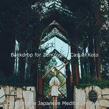 Backdrop for Zen Yoga - Casual Koto