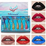 YO-HAPPY 1Set Fashion Matte Lipstick Set Velvet Gloss Barras de Labios de Larga duración Antiadherente CU