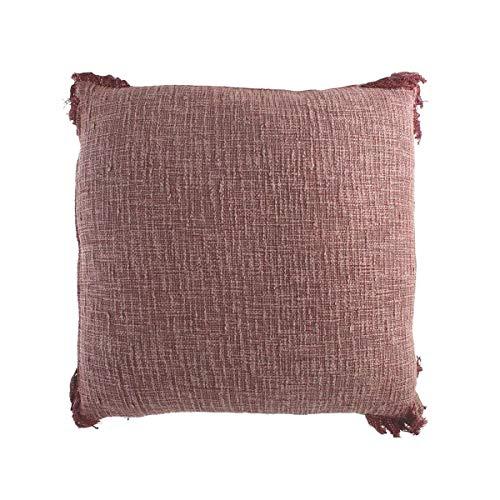 Engelnburg hoogwaardig sierkussen sofakussen kussen katoen aubergine 60x60cm