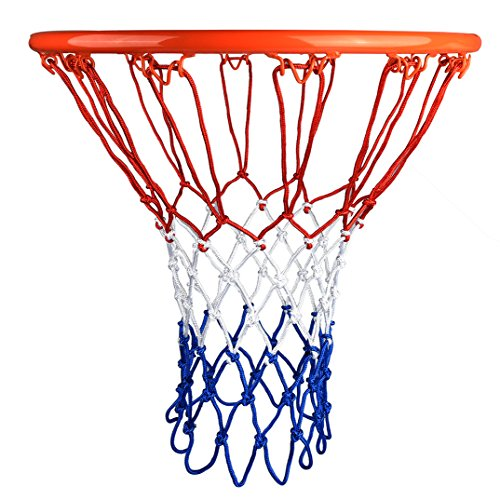 Set di 2 Reti Professionali per Canestro da Basket, Reti di Ricambio Resistenti ad ogni Condizione Atmosferica adatte alle Dimensioni di un Canestro Standard, Reti da 12 Buchi per Basket all´aperto
