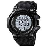 Zwbfu Reloj Deportivo Digital para Hombre Modo de Hora Dual Fecha Semana Reloj Despertador Retroiluminación 5ATM Impermeable Relojes de Moda para Hombre Pulsera para la Vida Diaria Regalos para