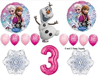 Frozen Pink 3rd Disney Movie Birthday Party Balloons Decorations Supplies by Anagram