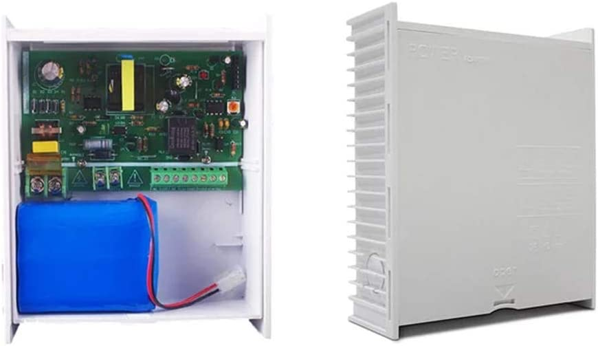 LBS AC 100~220V Power Supply with Backup Battery and Remote Control DC 12V 2A 3A 5A Power Switch for Access Control Security System (E: 12V3A Power Supply+Battery)