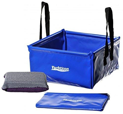 YACHTICON Faltschüssel Plus Outdoor Cleaner Microfaser Reinigungsschwamm für Caravan und Camping