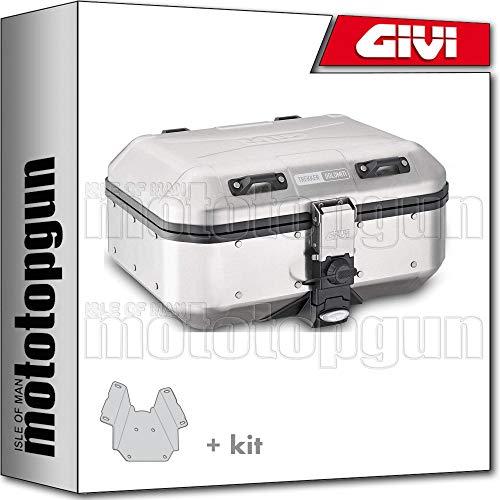 givi maleta trekker dolomiti dlm30a + porta-equipaje compatible con triumph bonneville t120 2019 19