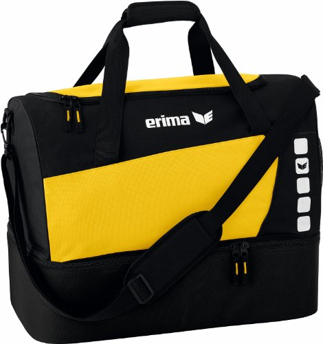 erima Sporttasche mit Bodenfach, gelb/schwarz, S, 28 Liter, 723338