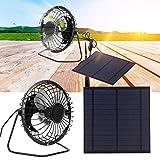 Pannello solare 5W 6V, pannello solare portatile di protezione ambientale con connessione USB, ventola alimentata per serre, cuccia, rimorchi, camper