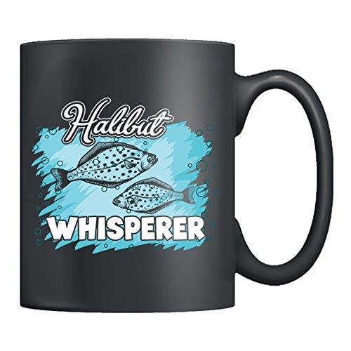 Halibut Ceramic Mug - Halibut Whisperer Teacup, Black Coffee Mug 11oz