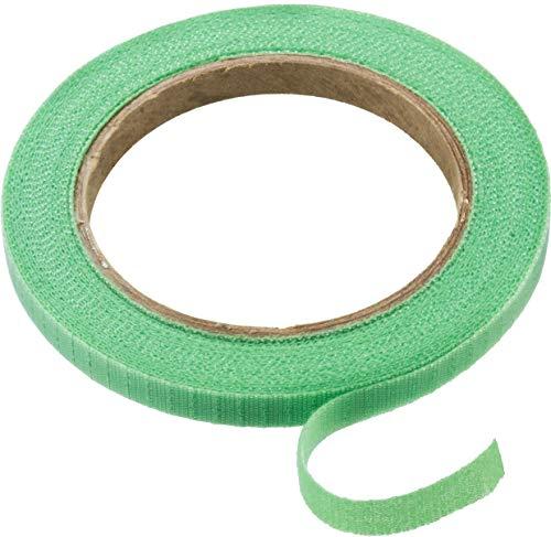 Connex Pflanzenbinder 7,5 m - Mit Klettverschluss - Wiederverschließbar - Perforiert zum Abreißen - Stabil & witterungsbeständig / Pflanzenhalter / Fixierband / Klett-Kabelbinder / FLOR78655