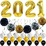 50PCS Año Nuevo 2021 Globos Decoraciones para fiestas Set Niñas Mujeres Suministros para fiestas de cumpleaños para bebés Globos para fiestas temáticas de bricolaje para Baby Shower Decoraciones de
