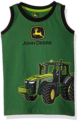 John Deere Boys' Toddler Muscle T-Shirt, Green/Black, 2T