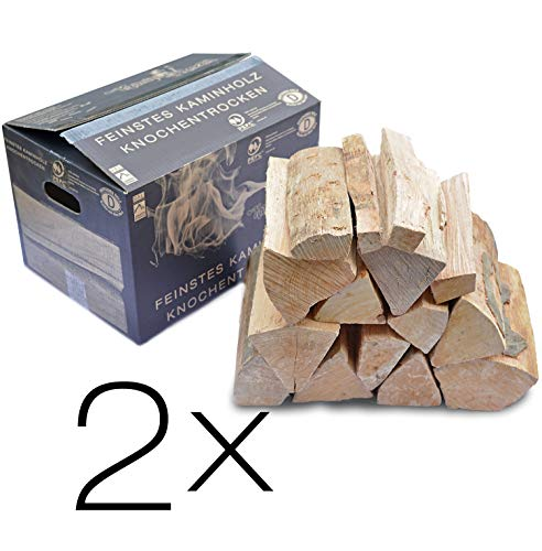 Kaminholz KaminHexen 2 x 12,5 kg Double Feature Buche, Stammholz aus Deutschland PEFC
