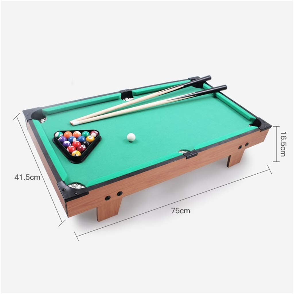 Mesa De Billar Pool con 2 × Señales, 16 × Bolas De Billar, Accesorios Mini Set De Deporte De Billar for Interior Al ...