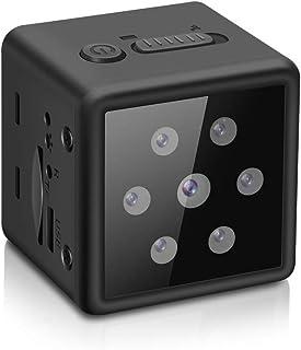 小型カメラ 隠しカメラ 高画質 ミニカメラ 超小型 長時間録画 録音 防犯監視カメラ 屋外/屋内用 電池式 赤外線暗視 動体検知 スパイカメラ 広角 操作簡単 128GB対応
