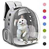 Henkelion Cat Backpack Carrier Bubble Carrying Bag, Small Dog Backpack Carrier for Small Medium Dogs Cats, Space Capsule Pet Carrier Dog Hiking Backpack, Airline Approved Travel Carrier - Grey