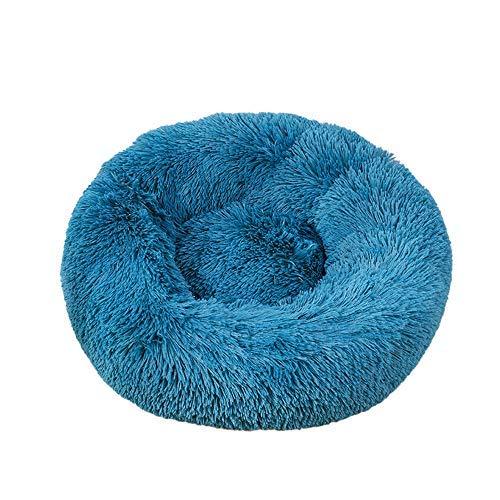 Decdeal Bett für Katzen Bett für Hunde Bett weich rund für Tier Bett Donut Hund Nest Deep Sleep Pet Matratze dick Hund Bett geeignet für Katzen Welpen Kätzchen Kleintiere