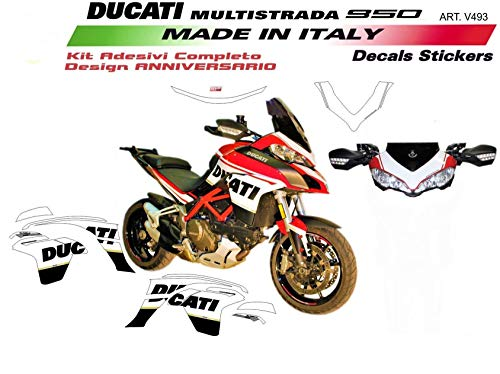 Aufkleber Für Ducati Multistrada 950 DVT Design 90° Jahrestag