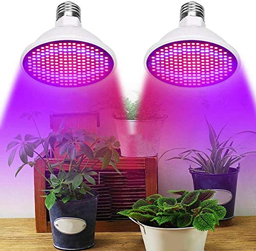 Grow Light Bulb LED E27 Full Spectrum Plant Lights 8W Plantengroei Hydrocultuurverlichting voor kamerplanten Kas en tuin, zonlicht