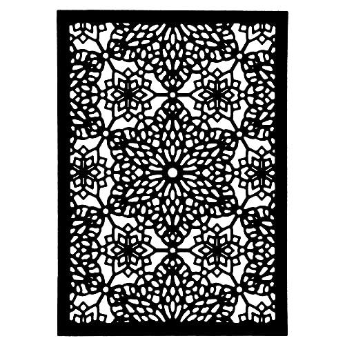 Plantilla de troquelado, diseño de estrellas de cristal, 13 cm x 9,2 cm
