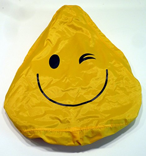 CBK-MS® Regenüberzug Smiley gelb Regenchutz Sattelcover Sattelbezug Fahrrad Sattel Bezug