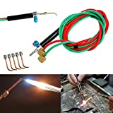 Torch Jewelers Soldering Welding with 5 Tips, Hoses Mini Gas Little Torch...