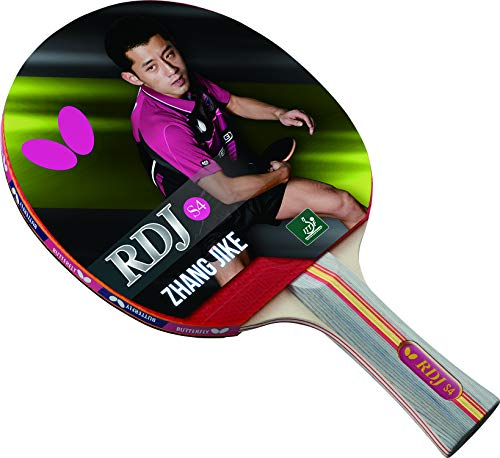 Butterfly RDJ S4 Shakehand Table Tennis Racket - Good Spin. Better Speed. Even Better Control - RDJ Series - Recommended for Beginning Level Players - International Table Tennis Federation Approved