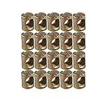 20pcs M6barril tuercas tacos ranurado tuercas para muebles sillas de cama cuna cuna