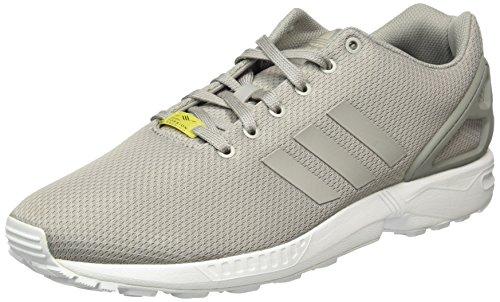 adidas Unisex-Erwachsene ZX Flux Low-Top Sneakers, Grau (Aluminum/Running White), 46 2/3