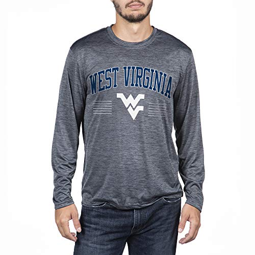 Top of the World West Virginia Mountaineers Men's Poly Space Dye Invader Long Sleeve Tee, XX-Large