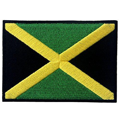Jamaika-Flagge Emblem Rasta Jamaikanischer Rastafarian Bestickter Aufnäher zum Aufbügeln/Annähen