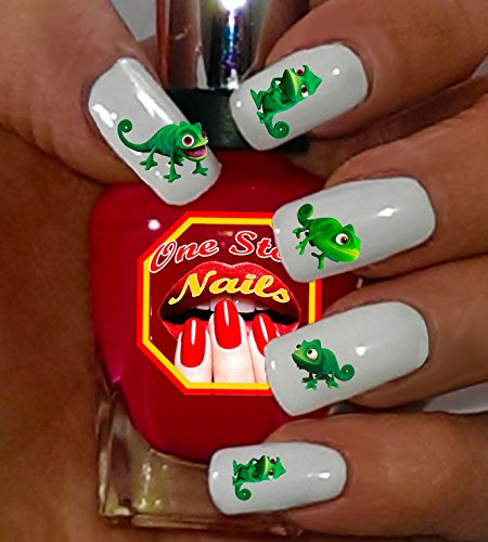 Rapunzel's Pascal The Chameleon Waterslide Nail Decals by One Stop Nails V4A.