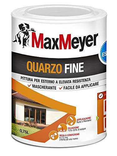 MaxMeyer 165025D300001 Quarzo Fine Pittura per Esterno Bianco 0,75 L