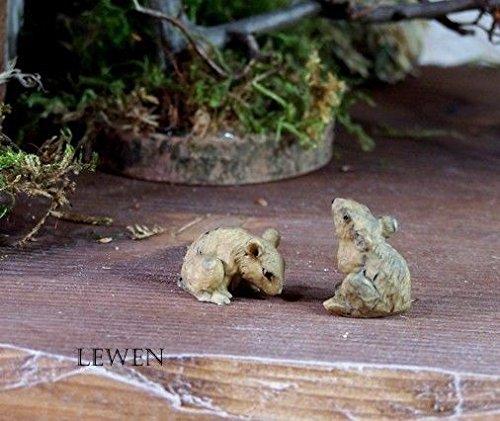 Mäuse aus Polyresin für Weihnachtskrippe. Größe 1,5 cm. Krippentiere