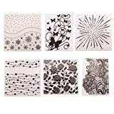 6Pcs Snowflake Butterfly Plastic Embossing Folder DIY Craft Template Molds Stamp Stencils Scrapbook...