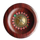 CLX Ruleta de Madera Partido Ruleta, Diversión Ocio Entretenimiento mesas de Ruleta Juego de la Placa giratoria para Adultos Grande dial Digital,Rojo