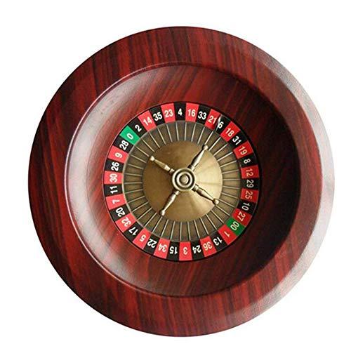 CLX Hölzernes Roulette-Rad Party-Roulette-Rad, Fun Freizeit Unterhaltung Roulette Tische Spiel Turntable Für Erwachsene Großes Digitales Zifferblatt,Rot