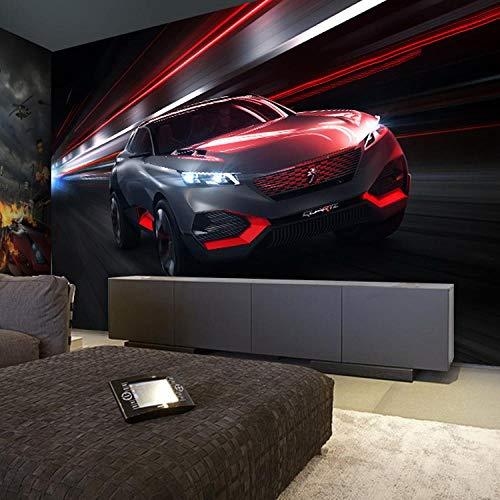 ZNNBH 3D Wandbild Selbstklebende Tapete (B) 200X (H) 150Cm Auto Thema Hintergrund Fototapete 3D Wandbild Jungen Und Mädchen Kinderzimmer Wand Hintergrund Kinder Wandbild Papier Wohnzimmer Schlafzi