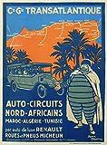 Póster de reproducción del circuito norte de África Marruecos Argelia Túnez, tamaño 50 x 70 cm, papel 300 gR-Venta del archivo digital HD posible, consulta (tienda: cartel vintage.FR)