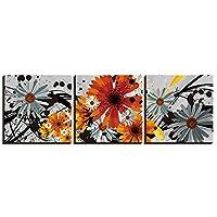 ファッション ポスターと版画絵画静物花の写真リビングルームの壁アート家の装飾キャンバスアート3ピースセット額入り 40x40cmx3pcs