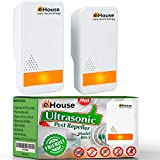 BH-3, 2 Pack - Ultrasonic Pest Repeller - Electronic Plug in Best Repellent - Pest Control - Get Rid of - Rodents Squirrels Mice Rats Insects - Roaches Spiders Fleas Bed Bugs Flies Ants Bats!