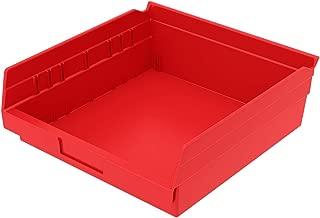 Akro-Mils, 30170RED, Shelf Bin, 11-5/8 In. L, 4 In. H, Red