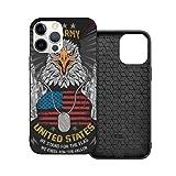 Funda de protección compatible con iPhone 12 / iPhone 12 Pro Eagle Usa Bandera y Armas de Teléfono Fundas/Funda de Silicona Suave TPU