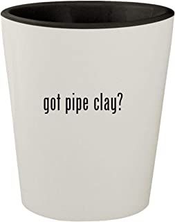 got pipe clay? - White Outer & Black Inner Ceramic 1.5oz Shot Glass