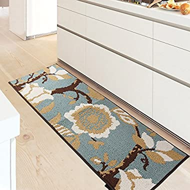 MustHome Kitchen Rug Non Slip Rubber Backing Kithcen Floor Mat/Runner Mat Perfect in Front of Sink and Dishwasher (18 Wx47 L)