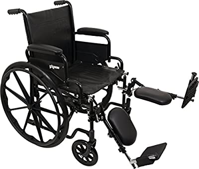 ProBasics Standard Wheelchair - Flip Back Desk Arms - 250 Pound Weight Capacity - Black - Multiple Size and Footrest Options Available