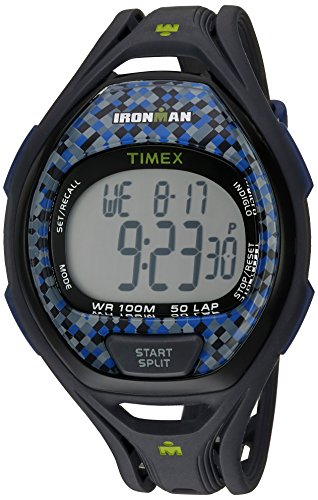 Timex Unisex TW5M07900 Ironman Sleek 50 Full-Size Gray/Blue Resin...