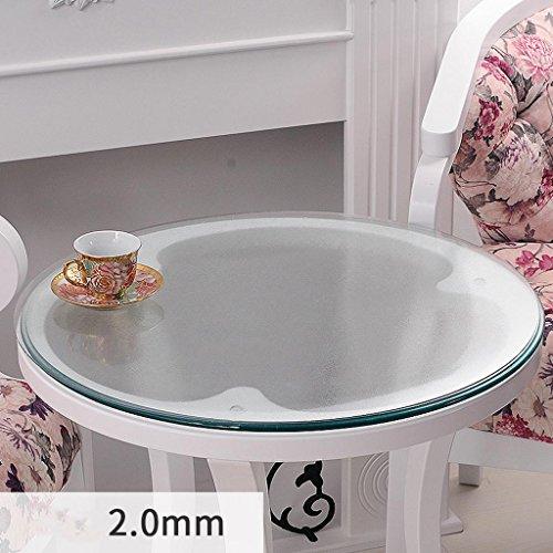 Nappe ronde en verre souple transparent étanche table basse mat PVC plaque de cristal plaque de table , 2.0mm , diameter 110cm