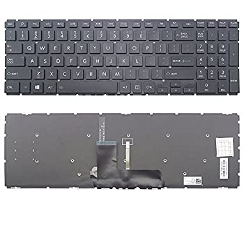 New US Layout Laptop Backlit Keyboard  Without Frame  Replacement for Toshiba Satellite Fusion L55W-C5256 L55W-C5257 L55W-C5259 L55W-C5278 L55W-C5278D L55W-C5280 L55W-C5352 L55W-C5357 L55W-C5358