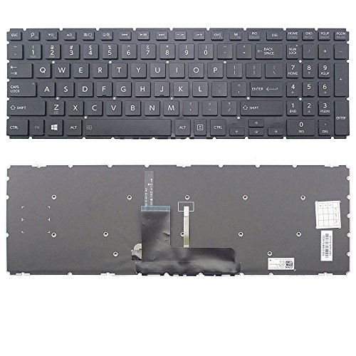 New US Layout Laptop Backlit Keyboard (Without Frame) Replacement for Toshiba Satellite Fusion L55W-C5236 L55W-C5150 L55W-C5152 L55W-C5153 L55W-C5201 L55W-C5202S L55W-C5220 L55W-C5236X L55W-C5252