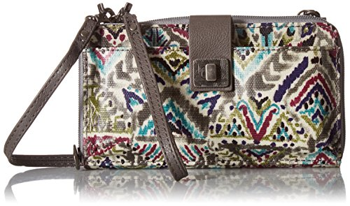 Sakroots Artist Circle Large Smartphone Cross-Body Phone Wallet,Slate Brave Beauty